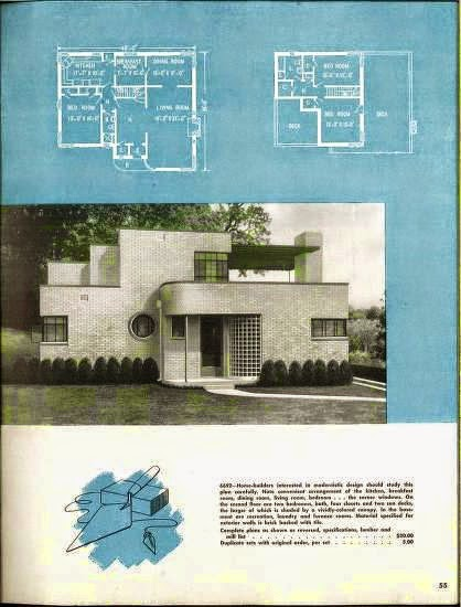 Art deco resource more art deco and art moderne house plans for Art deco house design