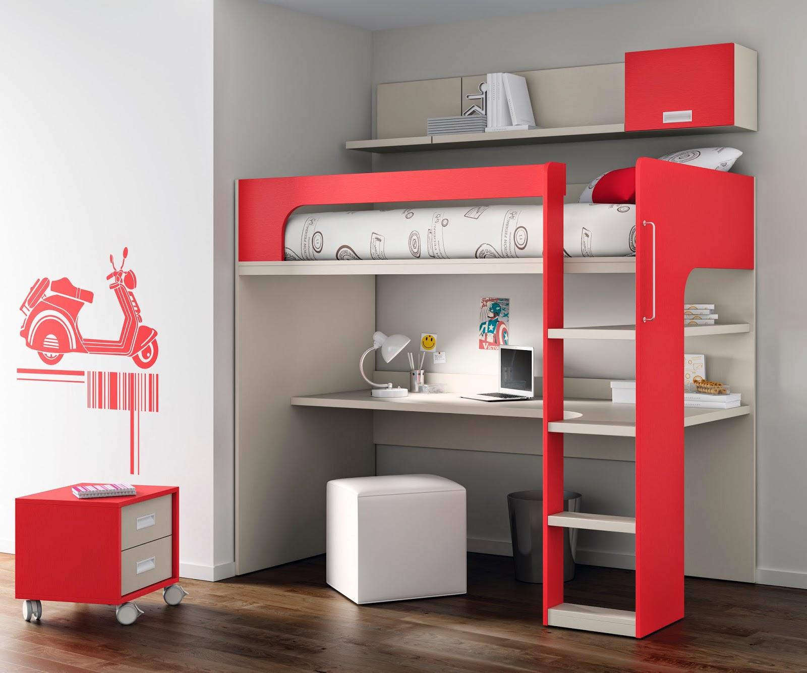 Nuevas literas de muebles ros - Literas con escritorio ...