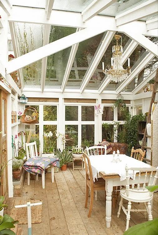 Apple pie and shabby style conservatory non chiamatelo solo giardino d 39 inverno - Arredare giardino d inverno ...