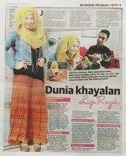 Utusan Malaysia 31/08/2013 - Blogger Pilihan Citra Orang Muda