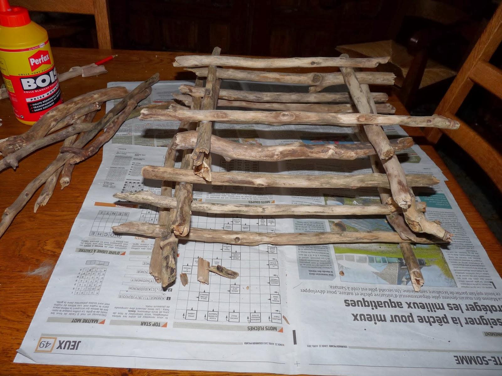 Récup & créations par Joël et Marie Jo Abat jour en bois