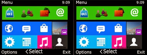 Tema nokia c3, x2, asha 305 - windows 8 menu