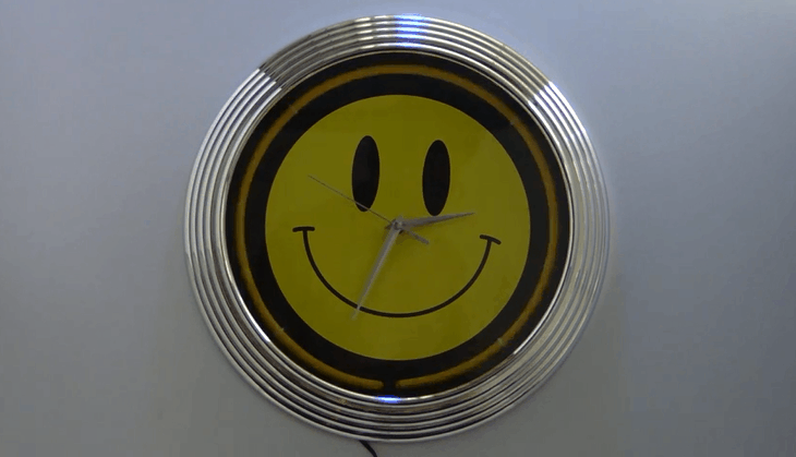 Moving Neon Clock