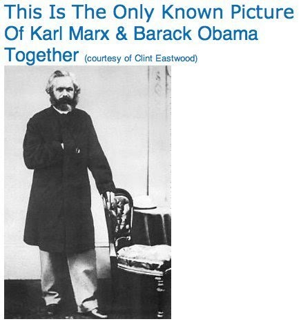 Karl Marx and Barack Obama