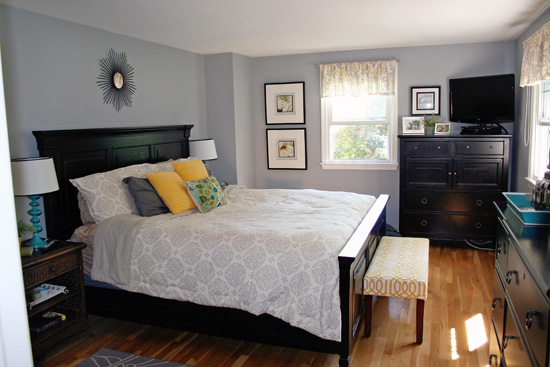 At Home: Gray Master Bedroom