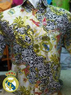 Gambar Baju Batik Bola Madrid