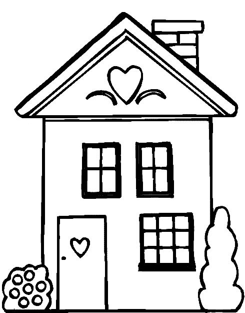 People And Jobs Coloring Pages For Kids Houses Colouring House Coloring Pages