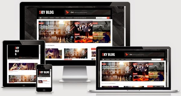 Sky Blog Responsive Blogger Template Free Download
