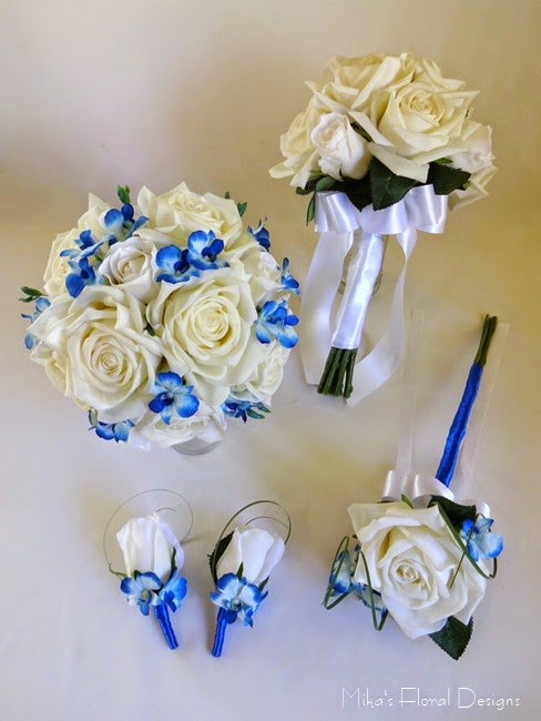 rose and mini orchid wedding flower package 200