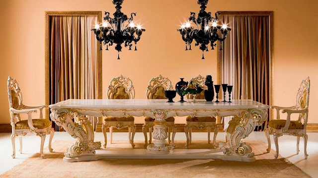 Dining table classic crystal indoor