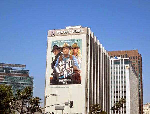 Million Ways to Die in the West giant movie billboard