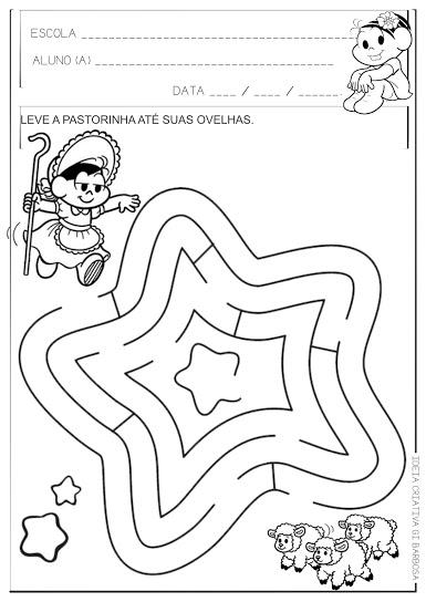Atividade Labirinto A Pastorinha