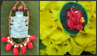 Handmade Unique jewellery , Ganesh pendant, Hand crafted Ganesha
