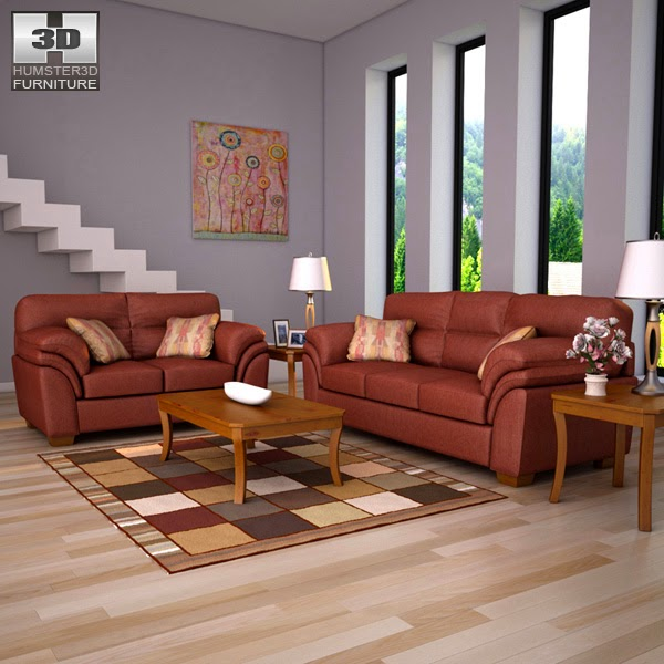 3D Living Room Design Colors