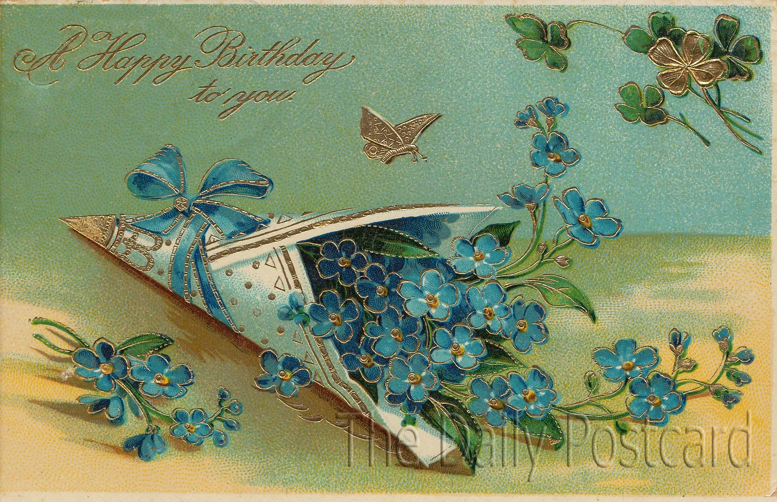 С днем рождения женщине на французском открытка