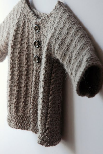 Demne,hand knitted baby jacket.