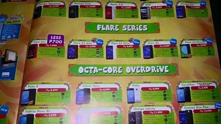 Cherry Mobile Fiesta 2015 Brochure Reveals Flare S3 Mini, Flare XL, Flare S3 Power and Omega Lite