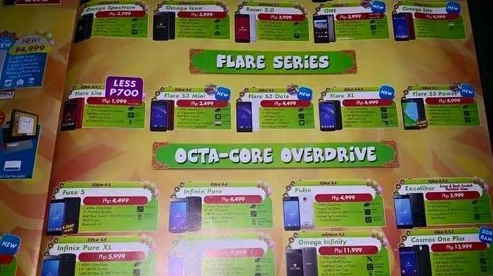 Cherry Mobile Fiesta 2015 Brochure Reveals Flare S3 Mini, Flare XL, Flare S3 Power and Omega Lite