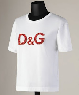 Camiseta Dolce y Gabbana logo coral 2013