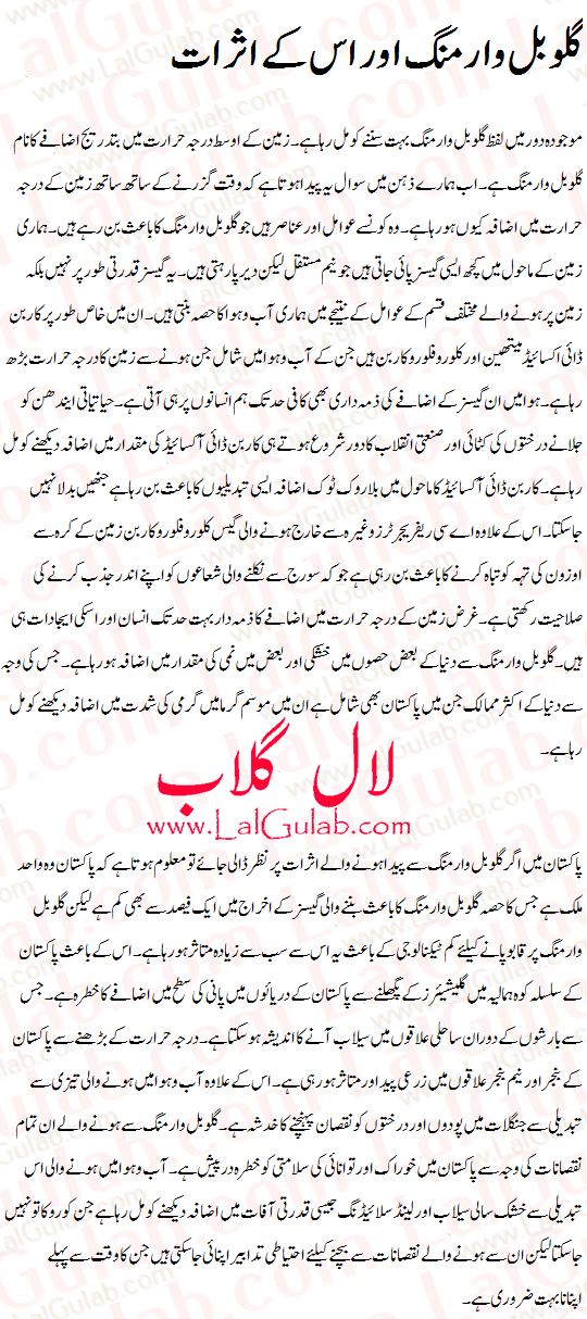 Global Warming Urdu Essay Global Warming Effects Climate Change ...