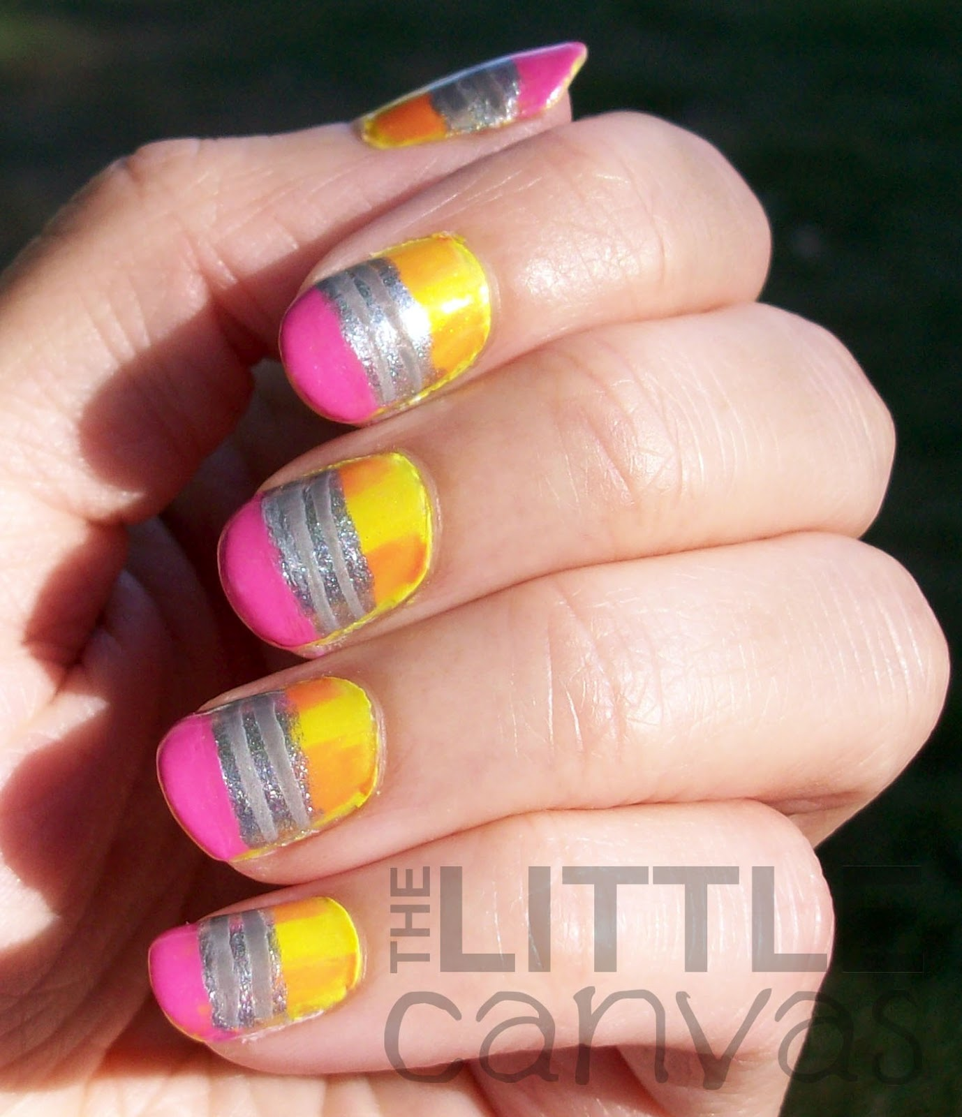 Back to school pencil nail art the little canvas back to school pencil nail art prinsesfo Gallery