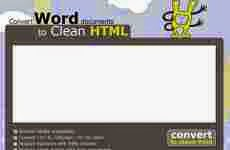 Convertidor de documentos word (.doc) a HTML online: Convert Word To Clean HTML
