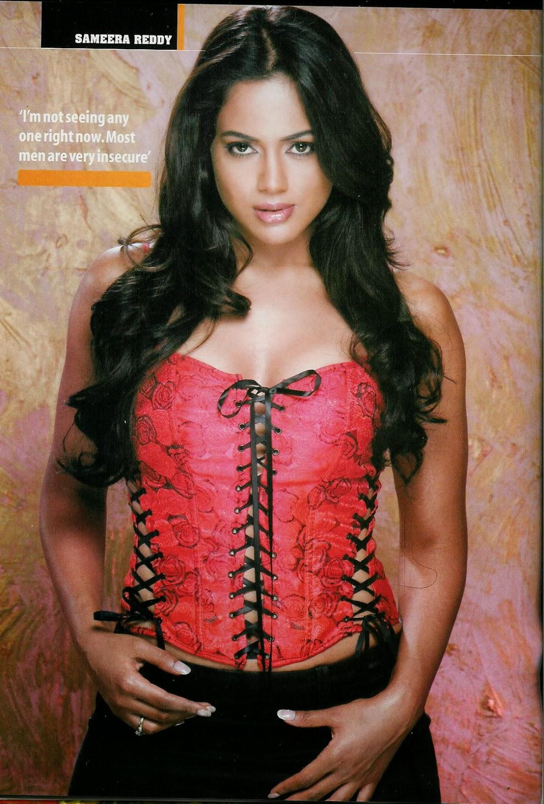 Sameera Reddy in pink