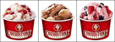 Cold Stone Creamery frozen yogurt creations