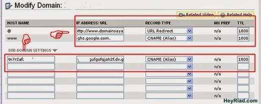 Setting domain Namecheap