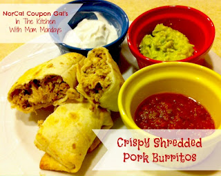 In The Kitchen With Mom Mondays: Crispy shredded pork burritos