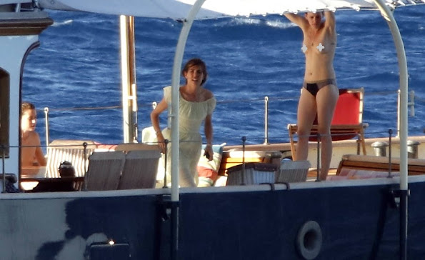 Charlotte Casiraghi On The Yacht Pacha III