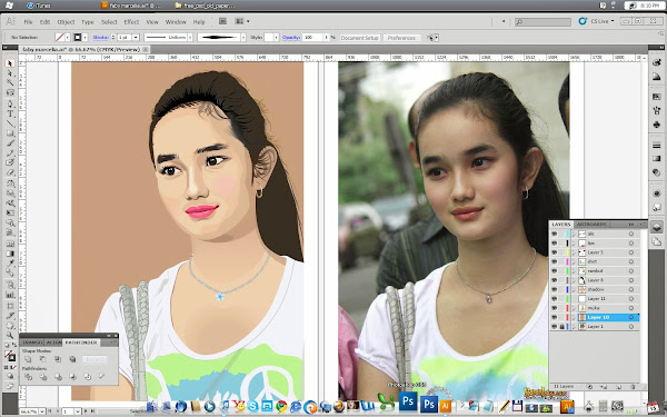 faby-marcelia-image-to-vector-using-illustrator
