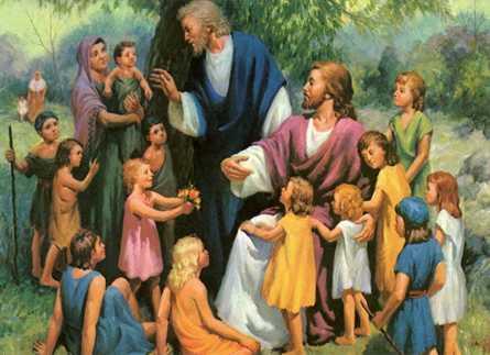 Resultado de imagen de imagenes de los niños acercandose a jesus