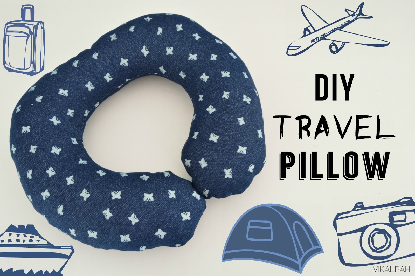Easy Sew Neck Pillow: Vikalpah  DIY Travel Pillow (DIY Pattern included),