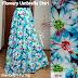 Rok Panjang Muslim Flowery Umbrella Skirt Biru 081372507000 pin bb 7FC8A1E9