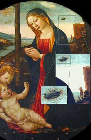 The Madonna with Saint Giovannino and a UFO
