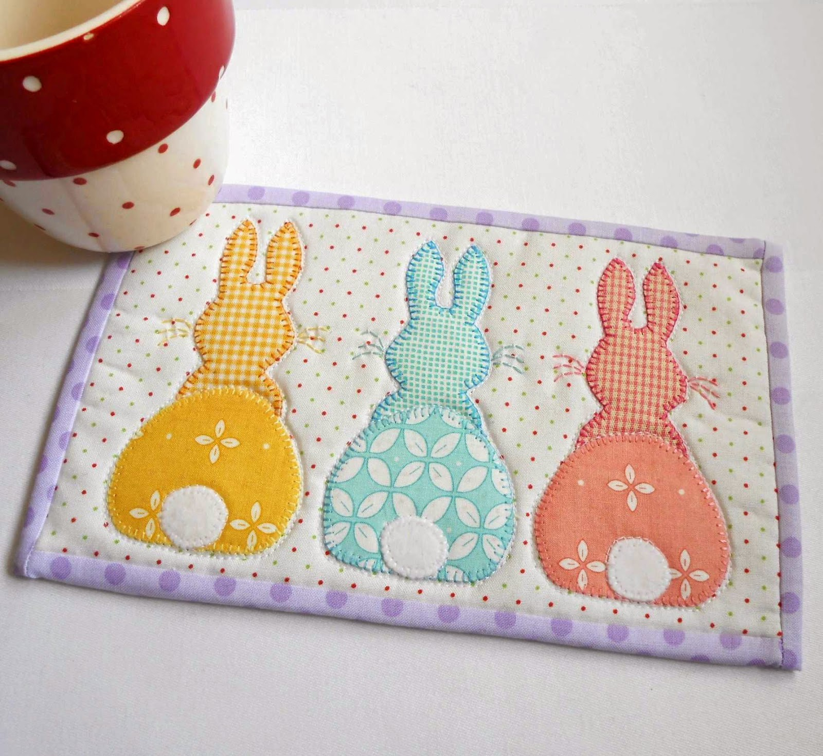 The Patchsmith Bunny Hop Mug Rug Three Designs In One