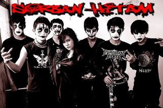 Sorban Hitam Band Gothic Black Metal Bogor Indonesia