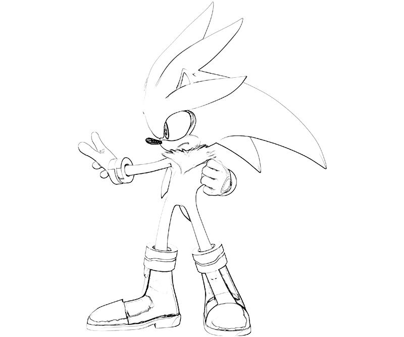Sonic Generations Silver The Hedgehog Power Surfing Silver The Hedgehog Coloring Pages