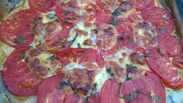 Tarte fine tomates-mozzarella