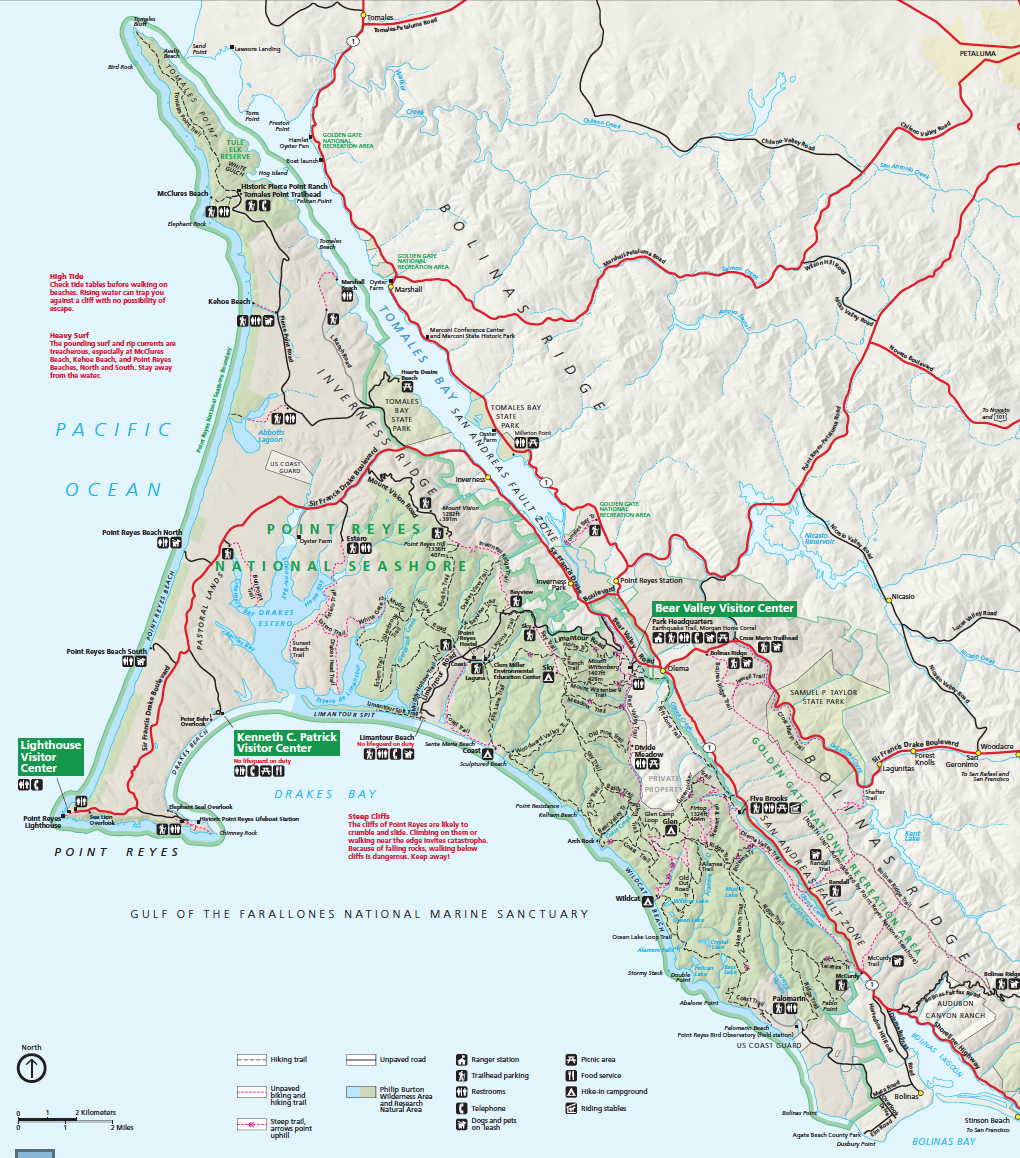 the fact that the peninsula is on a different tectonic plate than the east shore of tomales bay produces a difference in soils and therefore to some extent