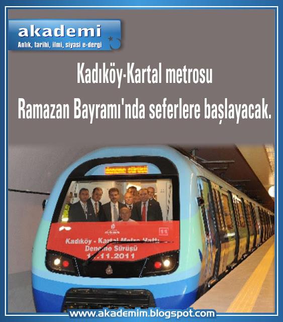 Kadıköy-Kartal metrosu Ramazan Bayramı'nda seferlere başlayacak