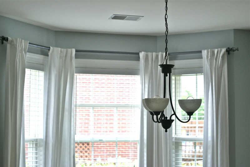 PVC Pipe Curtain Rod Bay Window