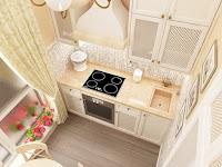 маленькая кухня, дизайн кухни, классический интерьер