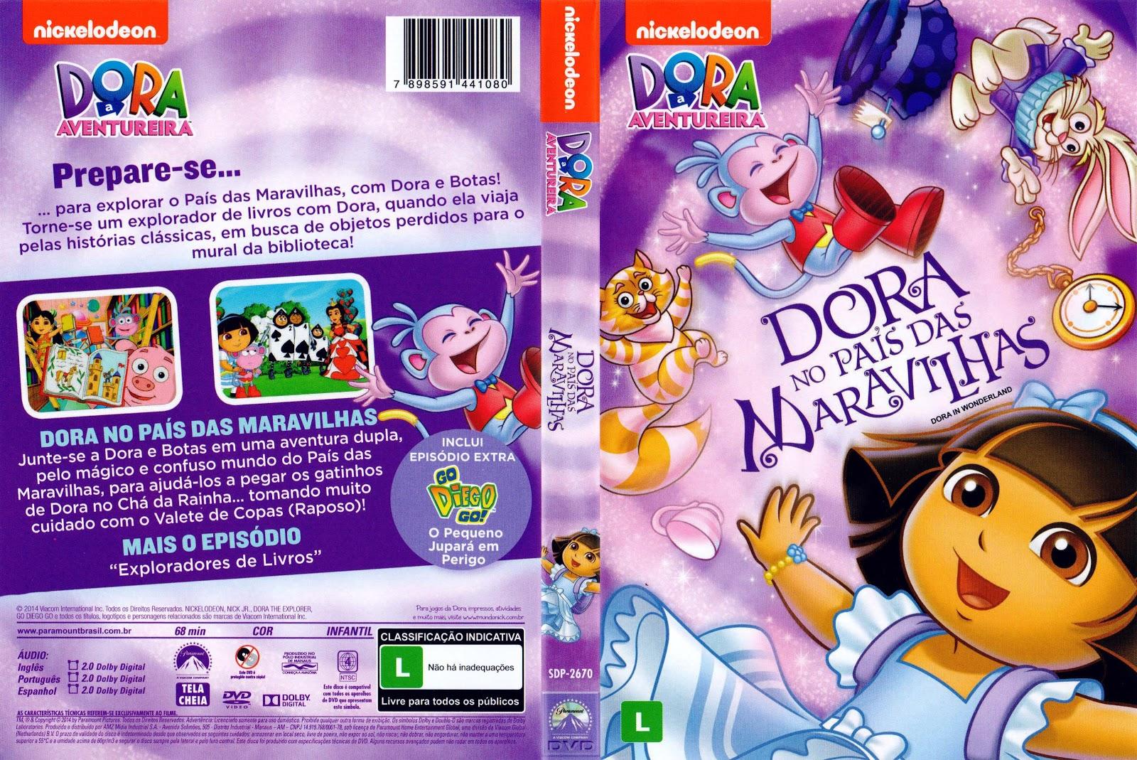 Capa DVD Dora No País Das Maravilhas