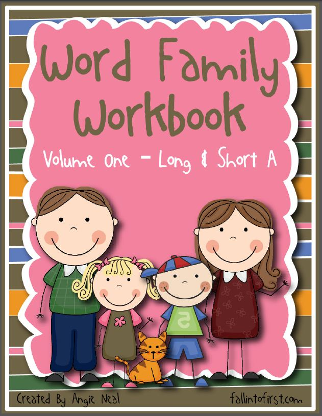 fall into first  word family workbook