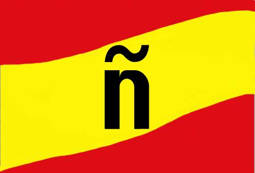 """La de """"ñ"""" de España y de español."""