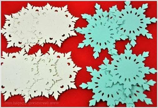 Объемные снежинки из бумаги. Volume of paper snowflakes