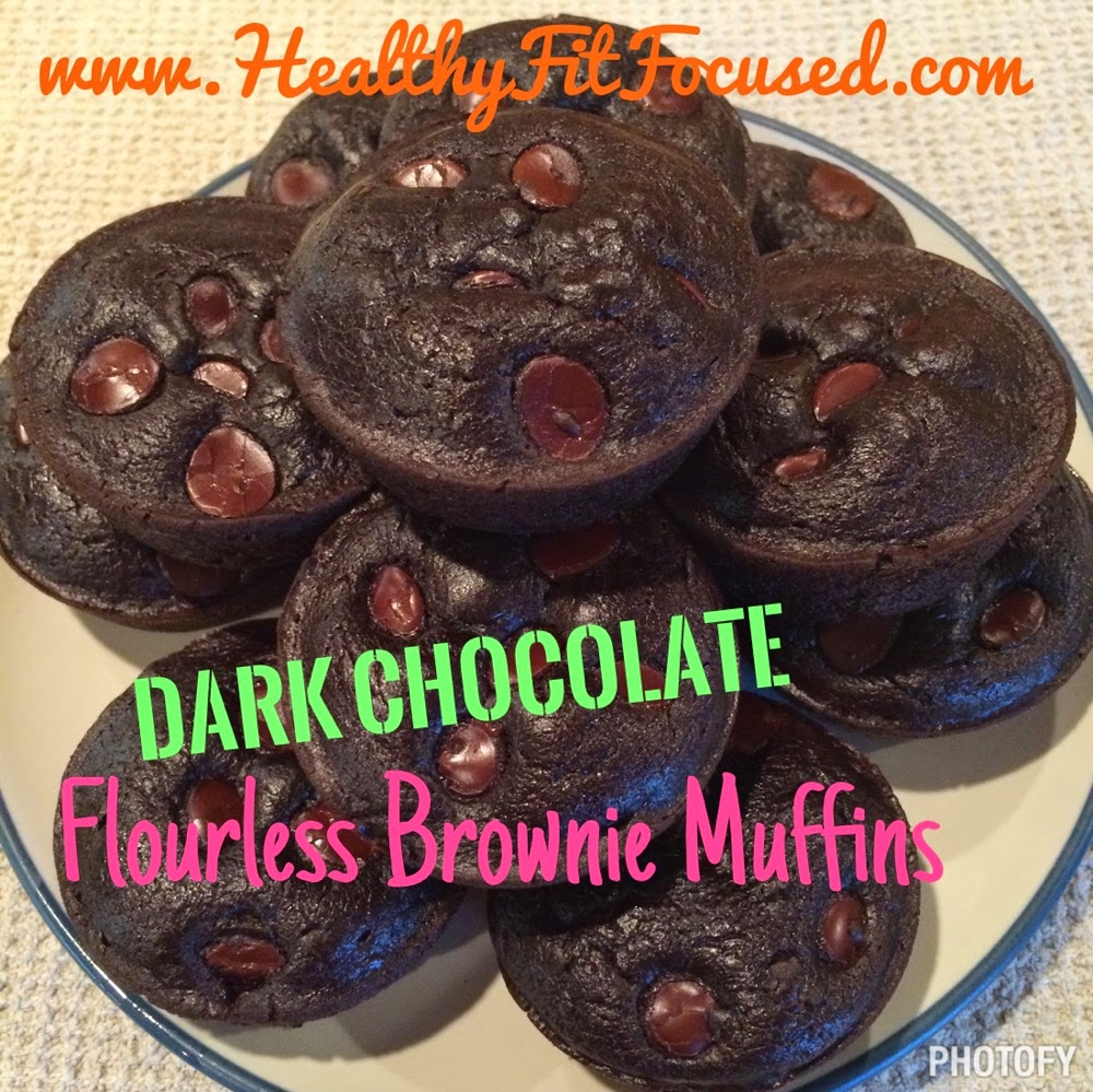 Chocolate Flowerless Brownie Muffins, 6 Tips for a Healthy Super Bowl...Clean Eating Recipes, www.HealthyFitFocused.com