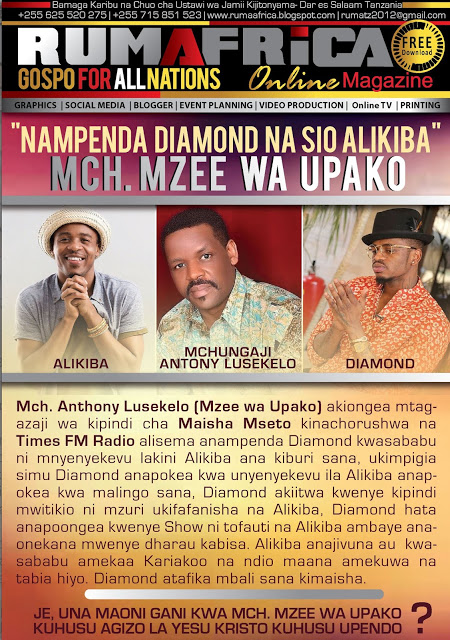 MZEE WA UPAKO, ALIKIBA NA DIAMOND